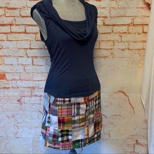 J Crew Madras Skirt